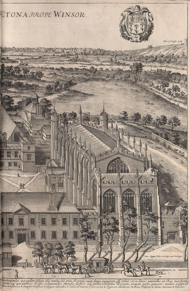 Eton College, en 1690