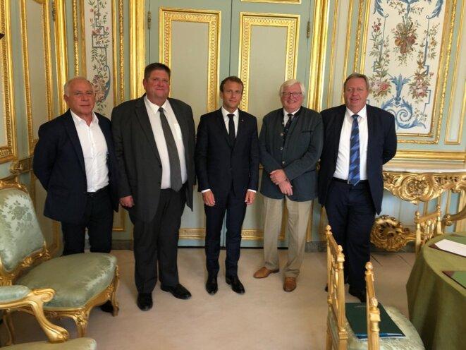 De G à D : François Patriat, Willy Schraen, Manu Premier, Alain Durand et Pascal Sécula