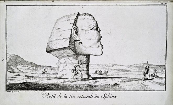 Sphinx de Gizeh par Frédéric-Louis Norden