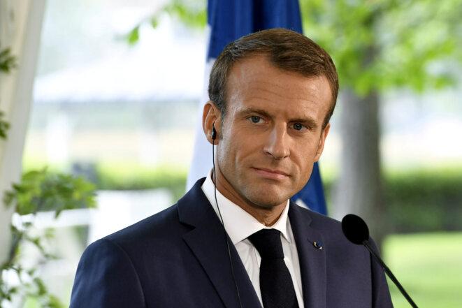 Emmanuel Macron à Helsinki. © Reuters