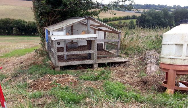 Cage d'élevage installée par la fédération de chasse © Blog Ornito