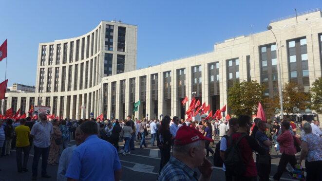 Manifestation du KPRF, avenue Sakharov. © CB
