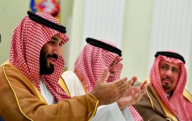 Mohammed ben Salmane lors d'une visite à Moscou, le 14 juin 2018. © Reuters