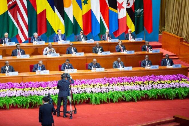 Ouverture du 3ème sommet du Forum sur la coopération sino-africaine (FCSA) 2018 - Grand palais du peuple  grande salle dorée