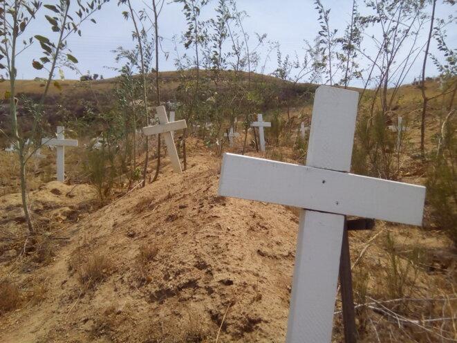 Le 12e cimetiere de Tijuana, inauguré en 2004, compte plus de trente mille tombes dont 495 fosses communes © Clément Detry
