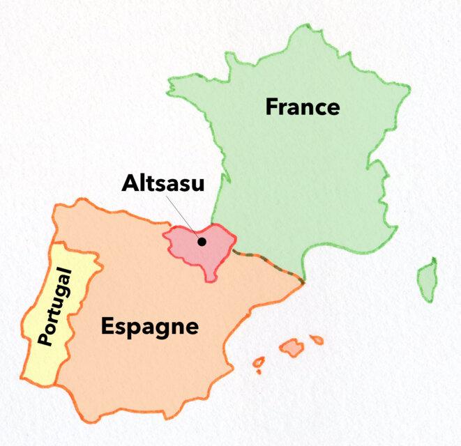Altsasu est une municipalité de 7500 habitants située au Pays basque. © LPL