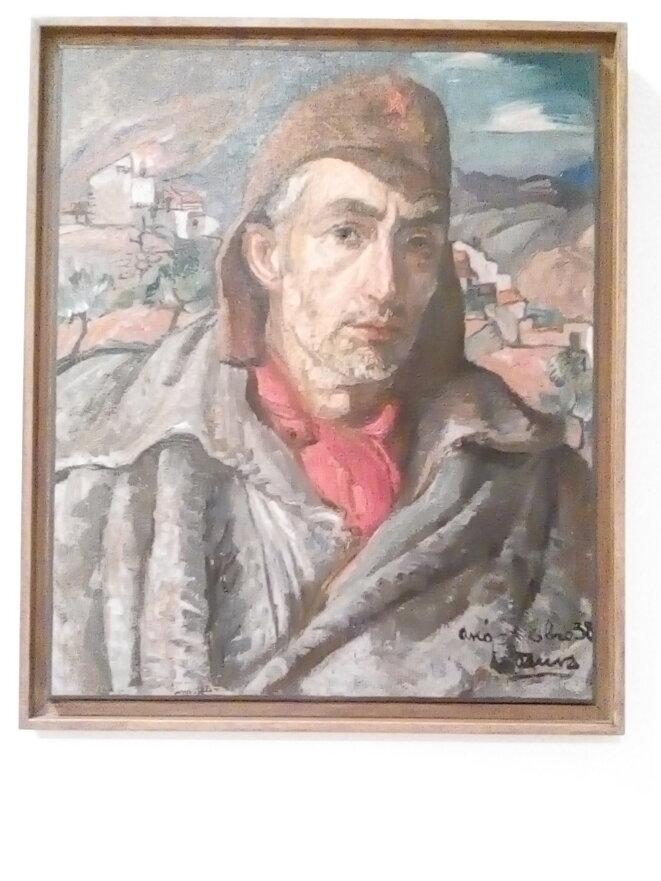 Autoportrait de Pierre Daura en volontaire républicain