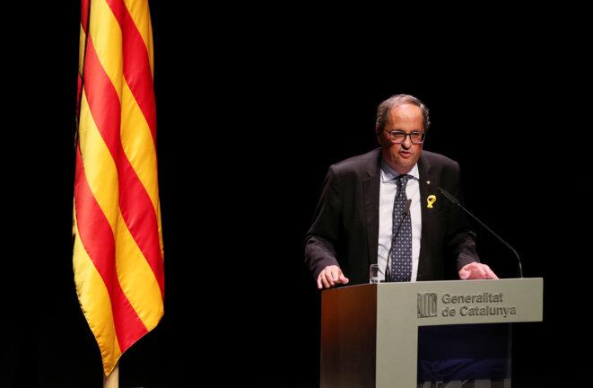 Le président de la Generalitat de Catalogne, Quim Torra, mardi 4 septembre 2018. © Reuters
