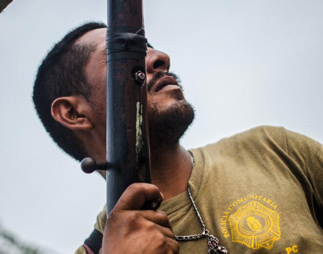 Ulises García, membre de la police communautaire CRAC-PC d'Acapulco, a été tué lors d'un affrontement avec un groupe paramilitaire © Eduardo Blas