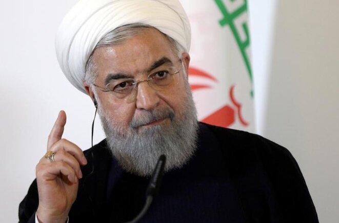 Hassan Rohani lors d'une visite à Vienne, en Autriche, le 4 juillet 2018. © Reuters
