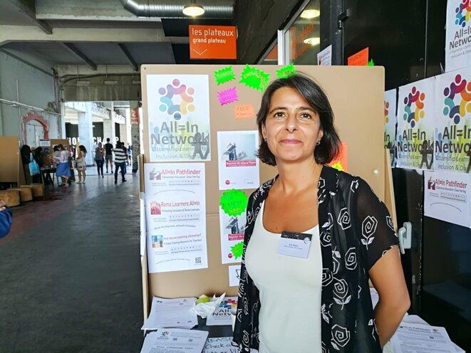 Ana Matos de la Faculté des Sciences Sociales et Humaines de l'Université Nova (Lisbonne) © Philippe Léger