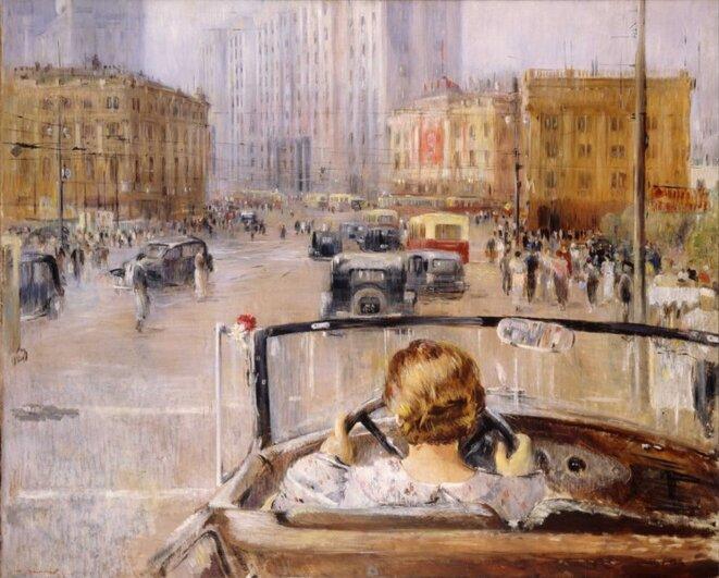 Youri Pimnov, La Nouvelle Moscou, 1937, Galerie Tretiakov, Moscou.