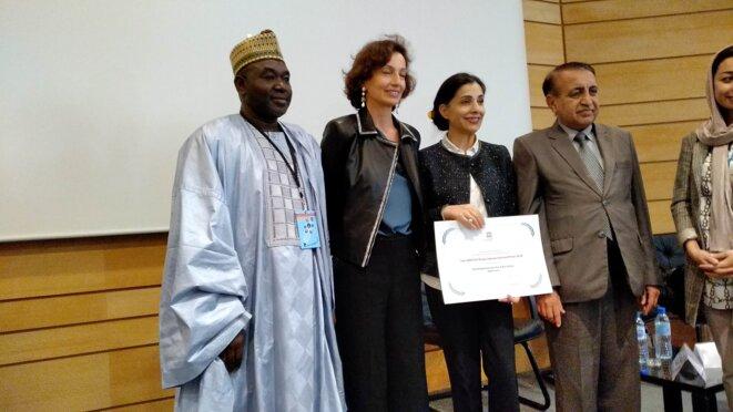 Paris, 07 sept.2018-UNESCO - Cérémonie de remise des Prix internationaux d'alphabétisation 2018