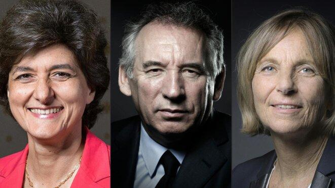 François Bayrou, Marielle de Sarnez etSylvie Goulard.