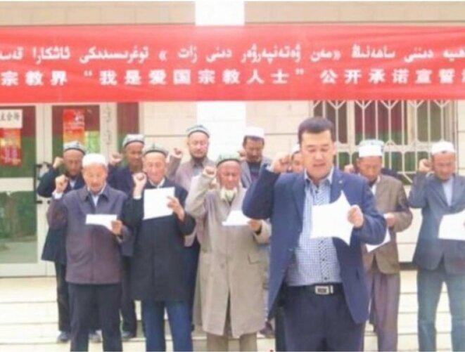 Les imams ouïghours jurant leur fidélité au Parti Communiste Chinois