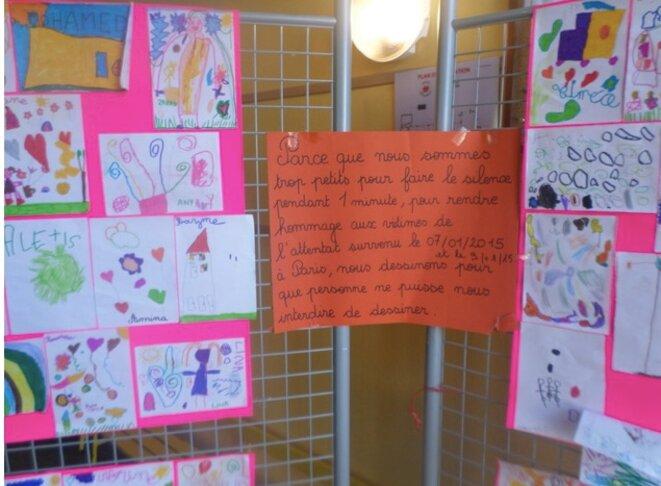 Dans une école à Amiens, en 2015. © Lucie Delaporte