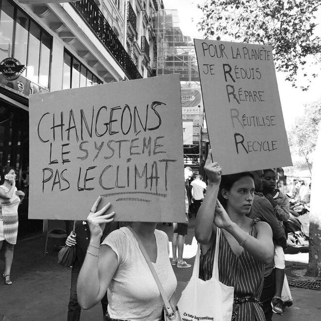 Changer le système pas le climat © Qdv 8 septembre 2018 Paris Marche pour le climat