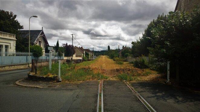 Descartes (Indre-et-Loire), l'ancienne voie de chemin de fer © François Rochon
