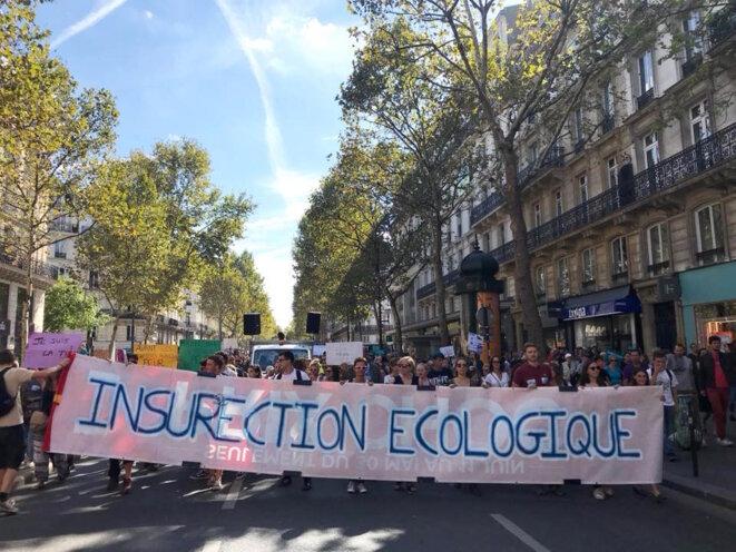 Insurrection écologique - Marche pour le climat - 8 sept 2018 © QdV