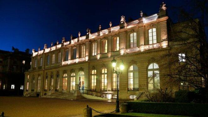 """L'Hôtel de Lassay vu du """"Jardin des quatre colonnes""""L'Hôtel de Lassay vu du """"Jardin des quatre colonnes"""" afp.com/JACQUES DEMARTHON"""