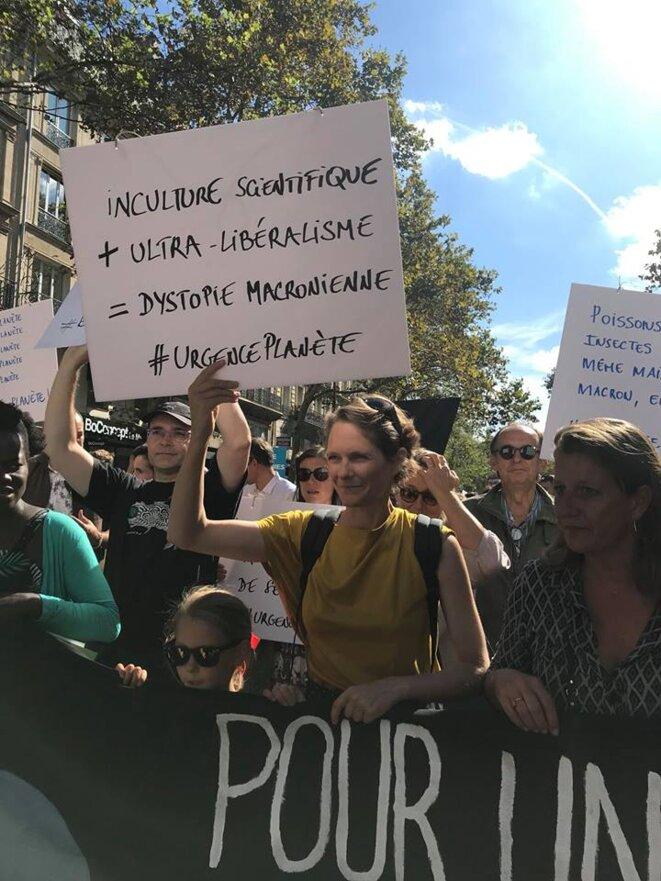 Claire Nouvian - Bloom - Marche pour le Climat - 8 septembre - Paris © QdV
