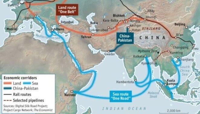 """Le titanesque projet chinois """"Initiatives Route et Ceinture"""""""