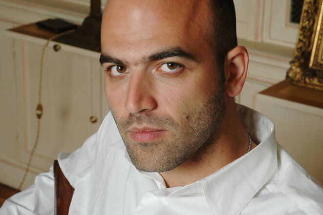 Threatened but not silenced: Roberto Saviano. © C. Hélie