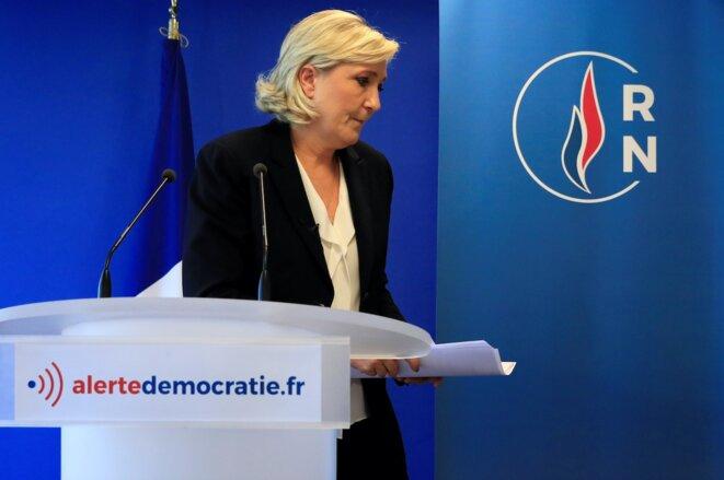Marine Le Pen, présidente du Rassemblement national. © Reuters