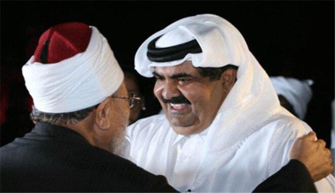 Al-Qaradawi et l'ancien Emir du Qatar