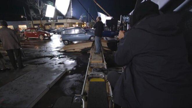 Sur le tournage de «Roma». © DR
