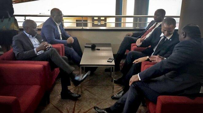 Les principaux leaders de l'opposition congolaise à Bruxelles © Twitter - DR