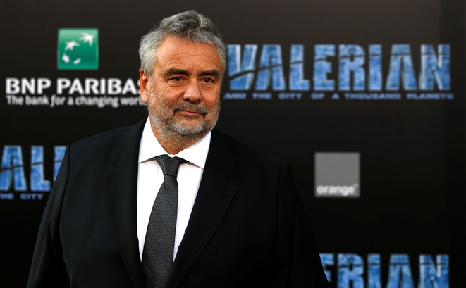 Luc Besson at the July 17th 2017 Los Angeles premiere of Valerian and the City of a Thousand Planets, which he produced and directed. © Reuters