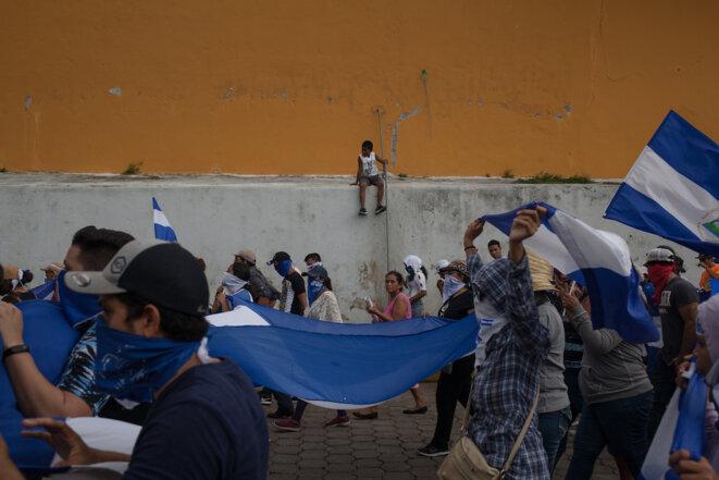 25 août 2018, à Granada. Ce jour-là, vingt et une personnes sont arrêtées en marge de deux manifestations. © Adrienne Surprenant