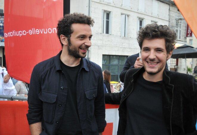 William Lebghil et Vincent Lacoste au festival du film francophone d'Angoulême, le 25 août 2018 © F.S.