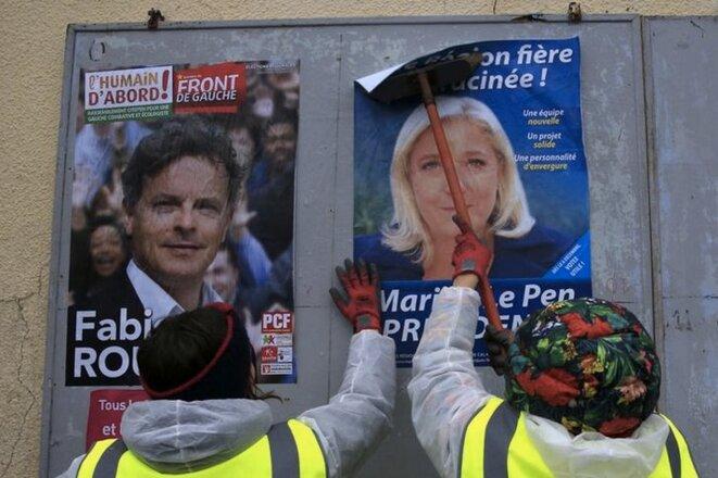 Le député du Nord, Fabien Roussel, candidat contre Marine Le Pen aux régionales de 2015. © Reuters
