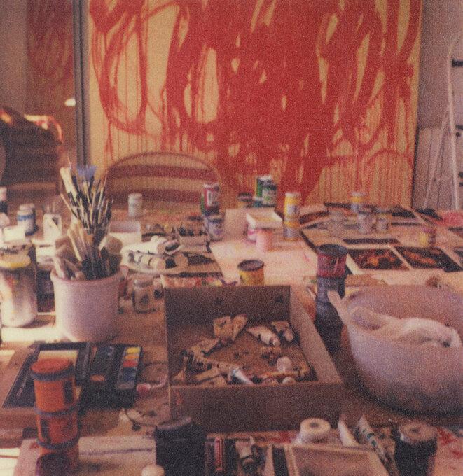 Cy Twombly, 2005. Studio Gaeta (with Bacchus Painting) © Fondazione Nicola Del Roscio