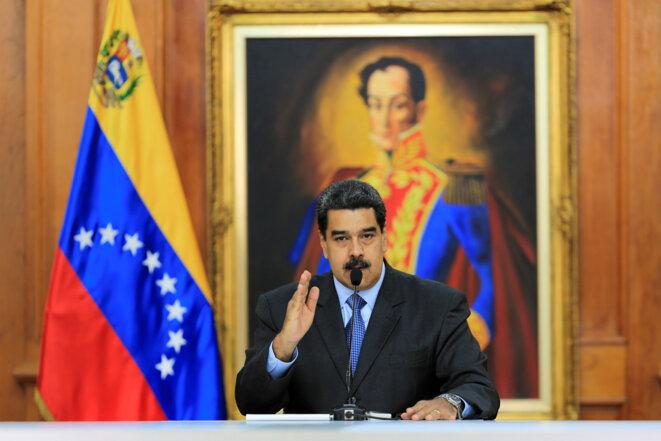 Nicolás Maduro, le 12 septembre 2018, à Caracas. © Reuters
