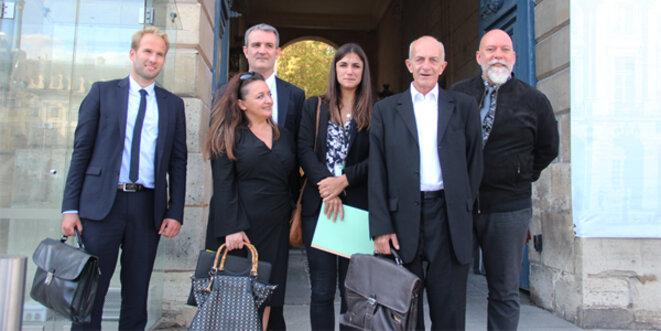 Les experts OSDEI N. Bortko, B. Vitale, P. Padié, Charline Onnillon représentant Sylvain Waserman, P. Follain et D. Ricordet. © Eurojournalist(e) / CC-BY-SA 4.0int