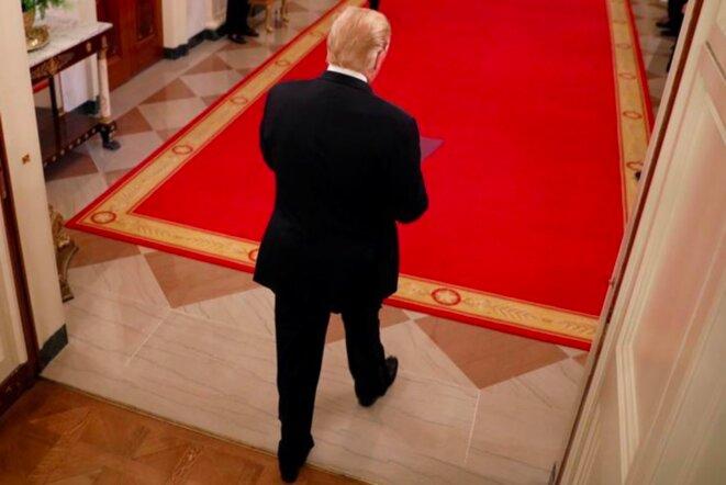 12 septembre 2018, Donald Trump à la Maison Blanche. © Reuters