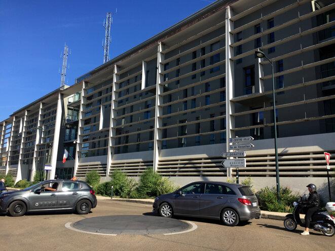 Commissariat de police central de Nantes. © Léopold Lambert (Septembre 2018).