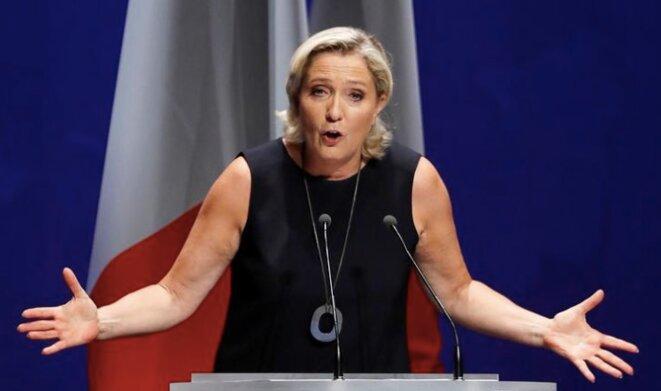 Marine Le Pen lors de sa rentrée à Fréjus © Reuters