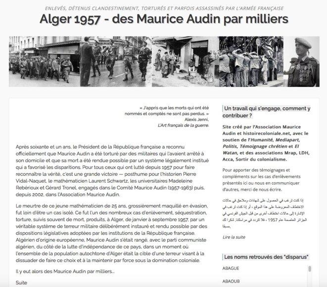 Capture d'écran de la page d'accueil du site 1000autres.org
