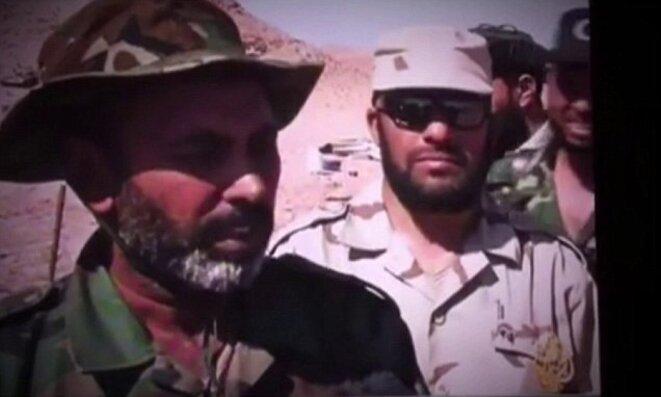 A droite, Mustafa Graf, l'imam qui appelait au djihad armé