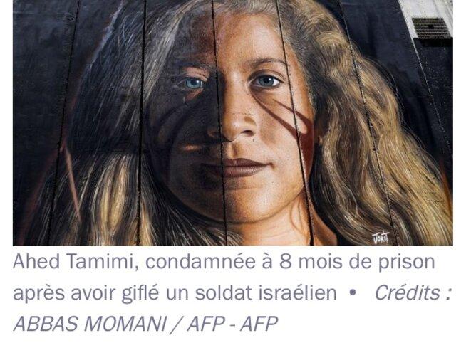 Ahed Tamimi - Crédit Abbas Morani AFP-AFP © E'M.C.