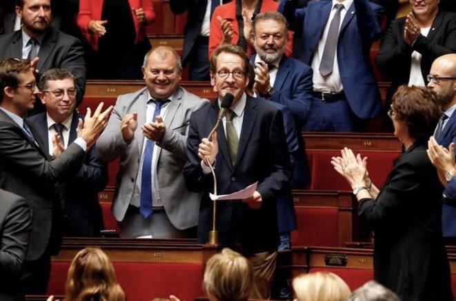 Gilles Le Gendre à l'Assemblée nationale, après son élection à la tête du groupe LREM. © Charles Platiau/Reuters