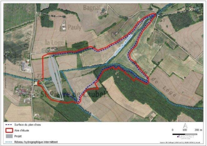 Localisation du projet, extrait du dossier du SDCI.