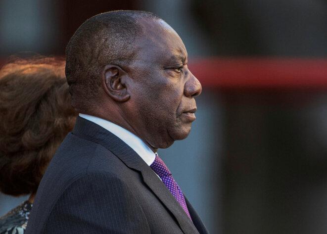 Le président d'Afrique du Sud Cyril Ramaphosa au Cap le 16 février 2018. © Reuters / Gianluigi Guercia.