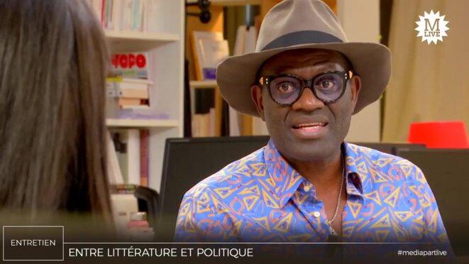 Alain Mabanckou. © Mediapart