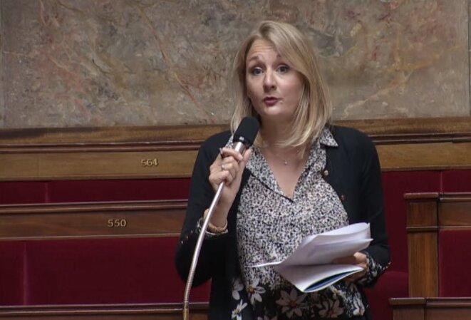 La députée LREM Alice Thourot lors du débat sur le projet de loi relatif à la fraude fiscale, le 17 septembre 2018. © DR (capture d'écran / Assemblée nationale)