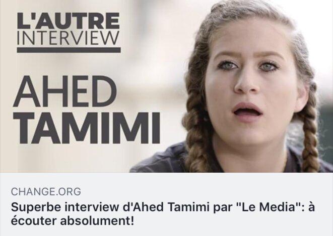 AHED TAMIMI INTERVIEW IN LE MEDIA Jeudi 20 septembre 2018 © E'M.C. Palestine